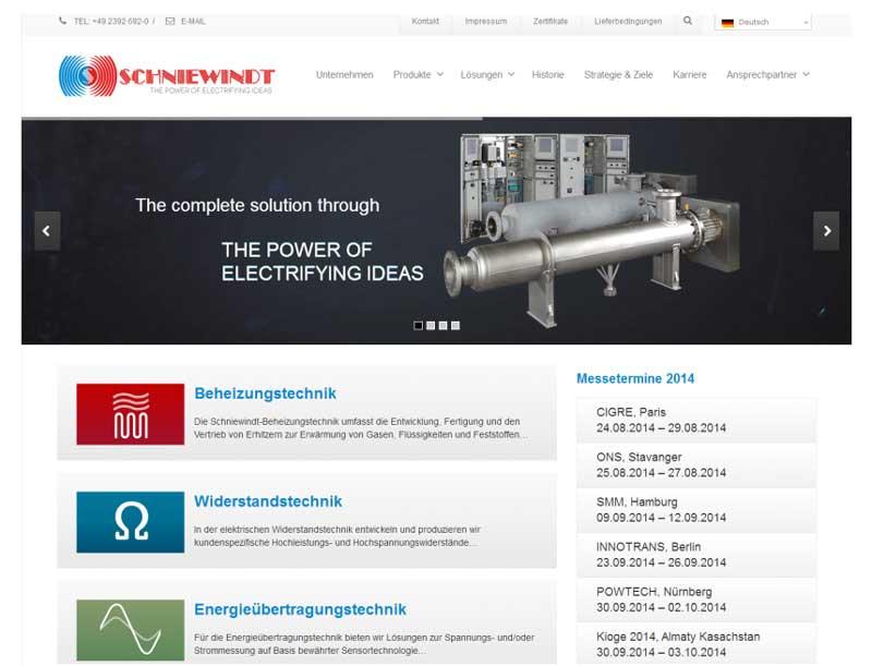 Schniewindt-News-Webseite