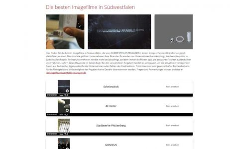 Schniewindt – News: Imagefilm Award – 1000x650px