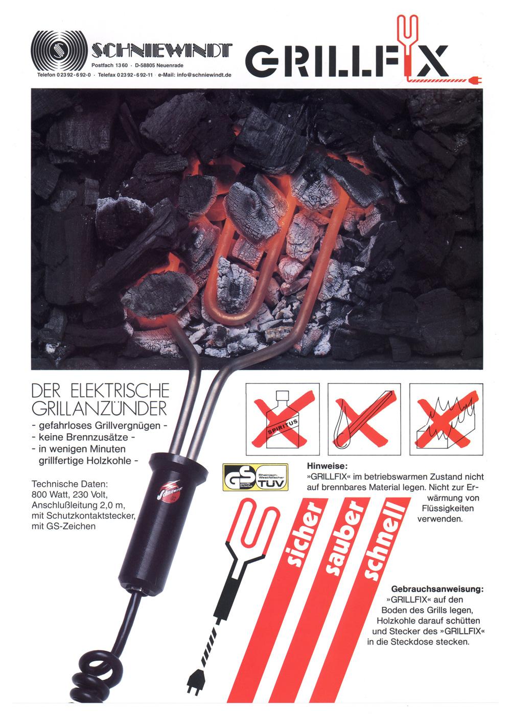 grillfix - der elektrische grillanzünder | schniewindt beheizungstechnik